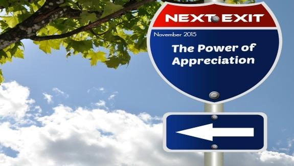 November 2015-The Power of Appreciation